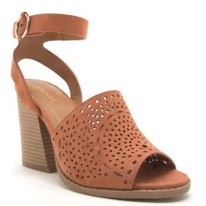 Shoes - Hazel Perforated Wood Sandals